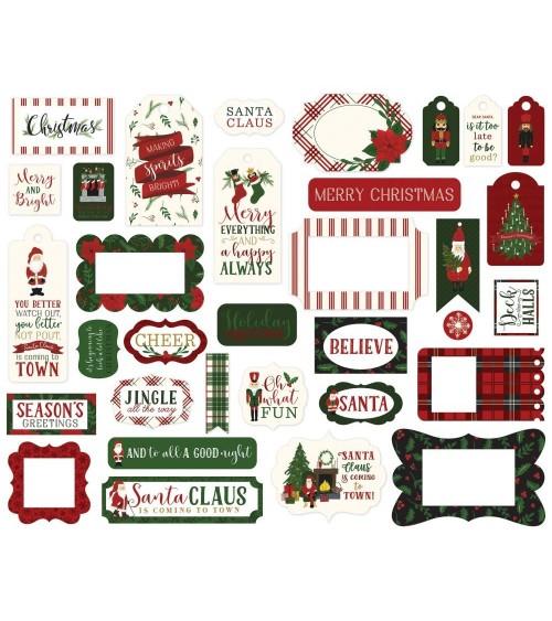 Echo Park - Here Comes Santa Claus - Ephemera Die Cuts Frames &
