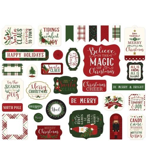 Echo Park - Here Comes Santa Claus - Ephemera Die Cuts Icons