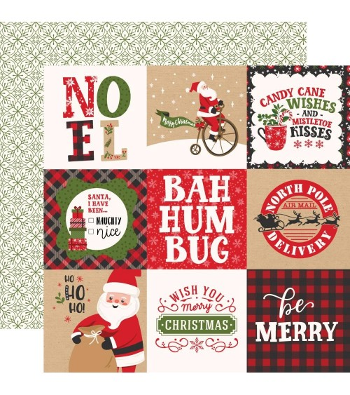 Echo Park - My Favorite Christmas -  4x4 Journaling Cards