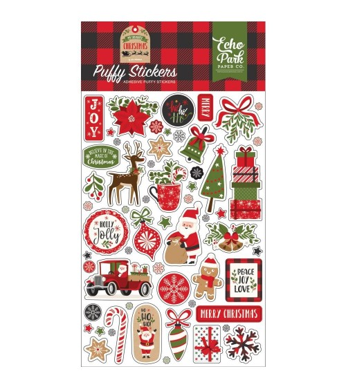 Echo Park - My Favorite Christmas - Puffy Stickers