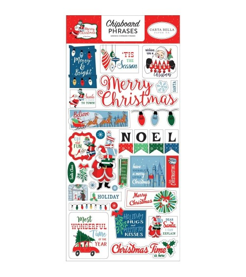 Carta Bella - Merry Christmas - Chipboard Phrases