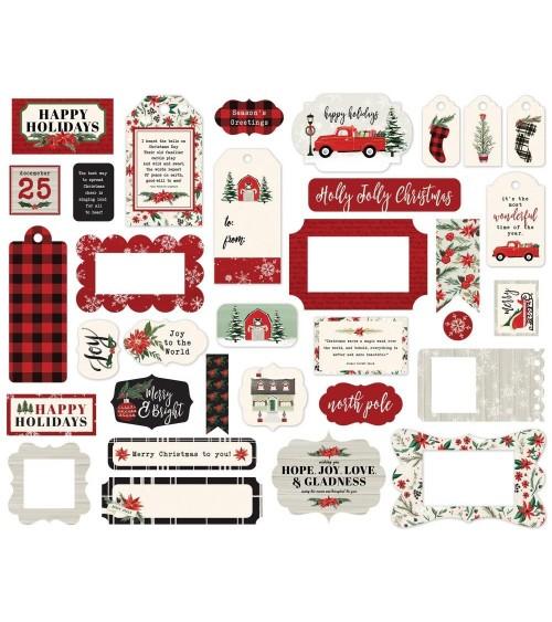 Carta Bella - Christmas Market - Ephemera Die Cuts Frames & Tags