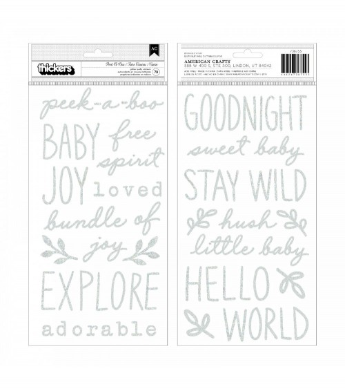 Pebbles - Peek-A-Boo You - Thickers Glitter Puffy Phrase