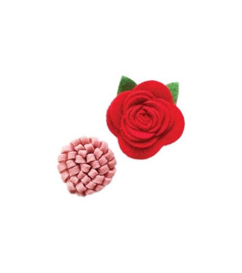 Fancy Pants - Home for Christmas - Felt Flowers