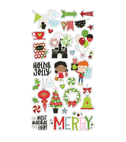 Simple Stories - Say Cheese Christmas - Chipboard Sticker