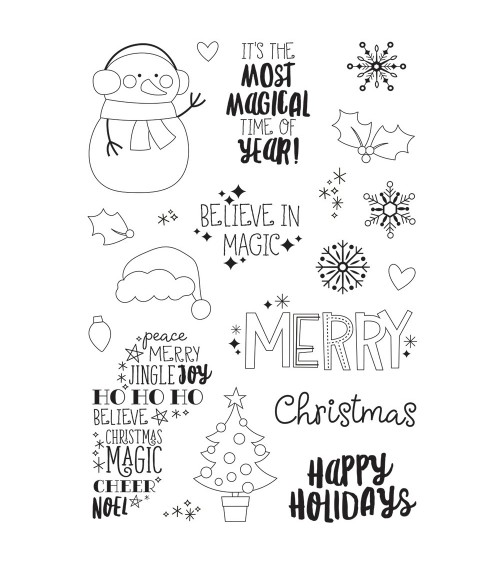 Simple Stories - Say Cheese Christmas - Clear Stamps