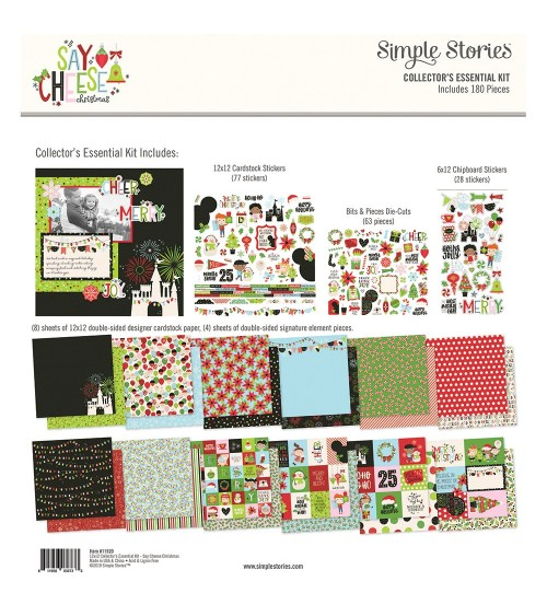 Simple Stories - Say Cheese Christmas - Collector's Essential Ki