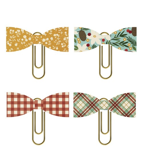 Simple Stories - Winter Farmhouse - Bow Clips