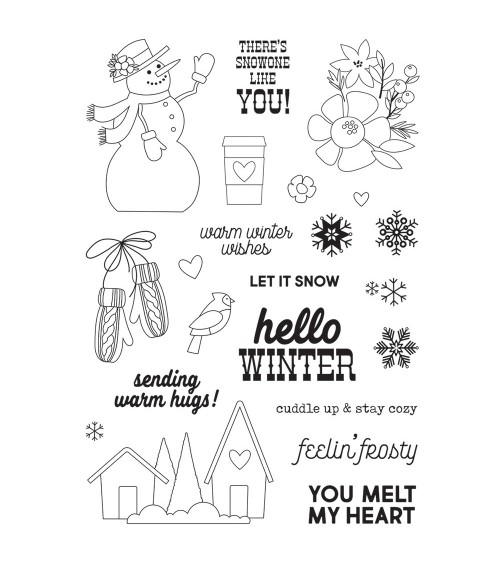 Simple Stories - Winter Farmhouse - Clear Stamps