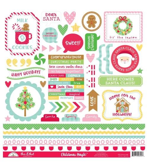 """Doodlebug - Christmas Magic - 12x12"""" Stickers"""