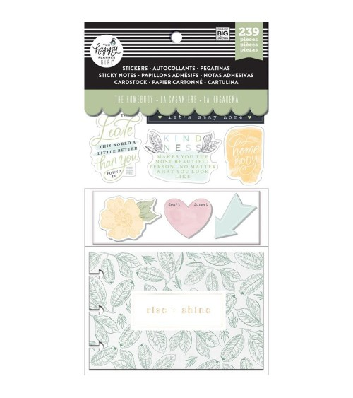MAMBI - Happy Planner Cards/Sticky Note Multi P. - Homebody