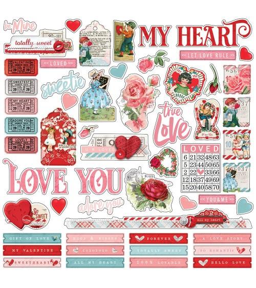 Simple Stories - My Valentine - Combo Sticker
