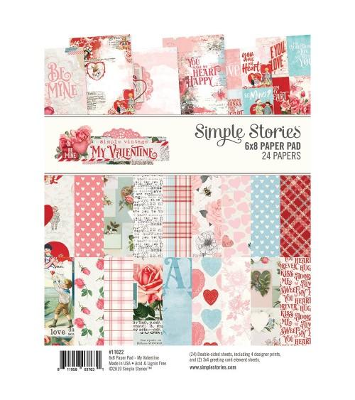 "Simple Stories - My Valentine - 6x8"" Paper Pad"