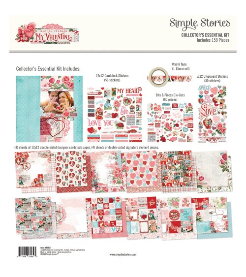 Simple Stories - My Valentine - Collector's Essential Kit