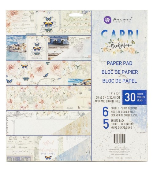 "Prima - Frank Garcia CAPRI - 12x12"" Paper Pad"