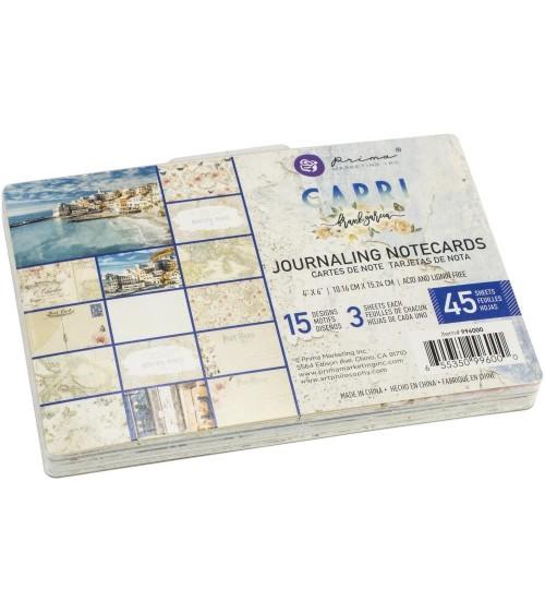 "Prima - Frank Garcia CAPRI - Journaling Notecards 4x6"""