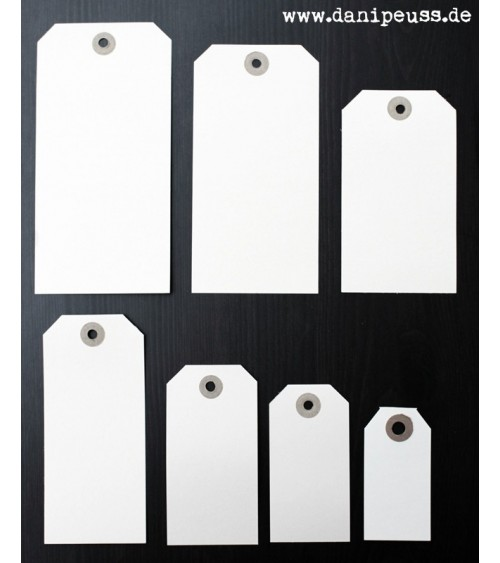 5 Manila Shipping Tags - Size  3 (4