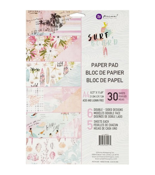 Prima - Surfboard - Paper Pad A4