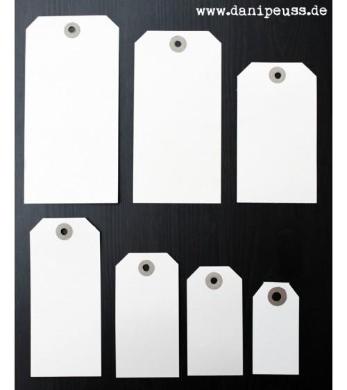 5 Manila Shipping Tags - Size  8 (8x15