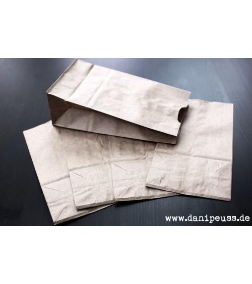5 Kraft-Lunchbags (Papiertüten) 10 lb. (17