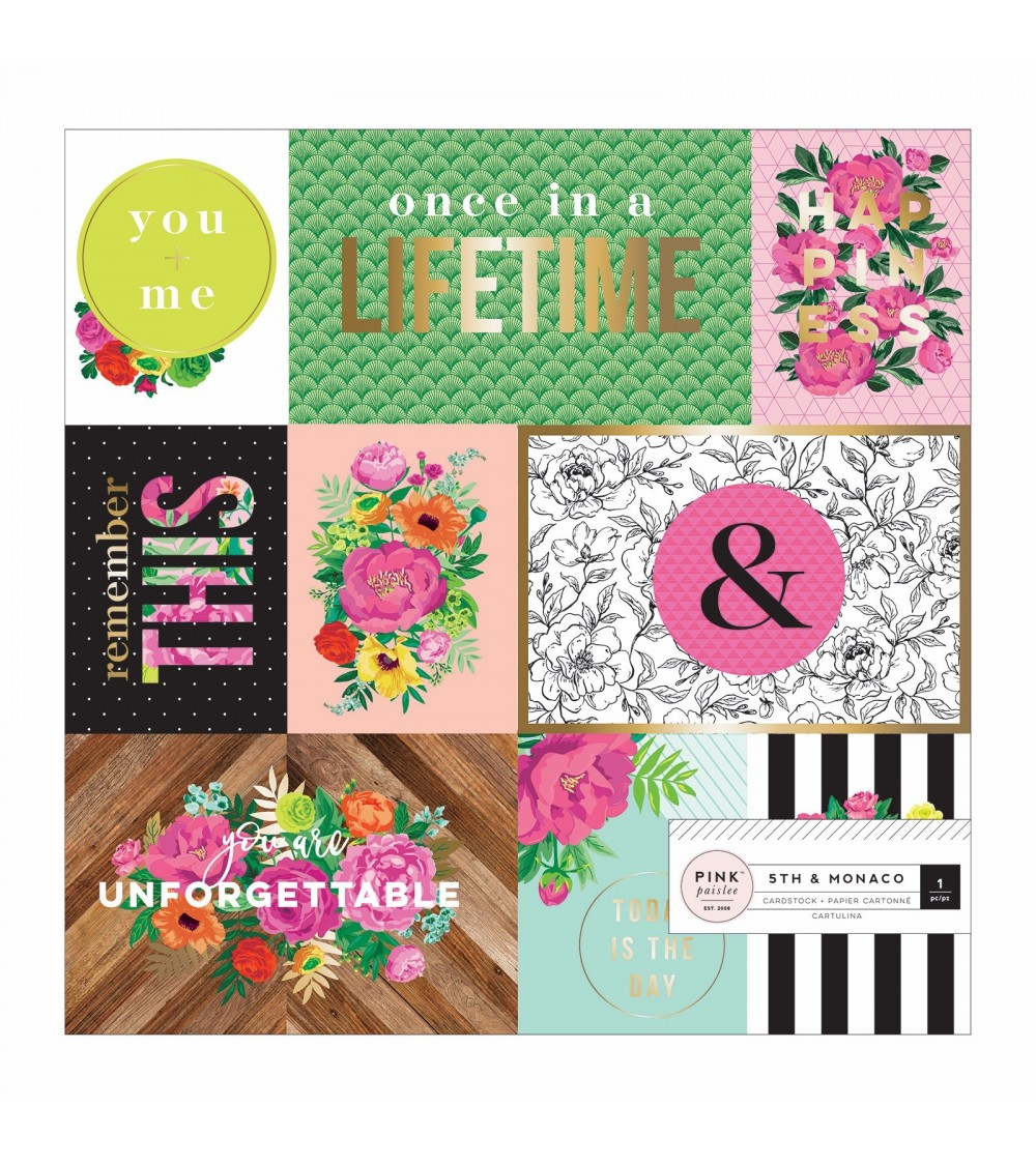 Pink Paislee - 5th and Monaco - Specialty Paper