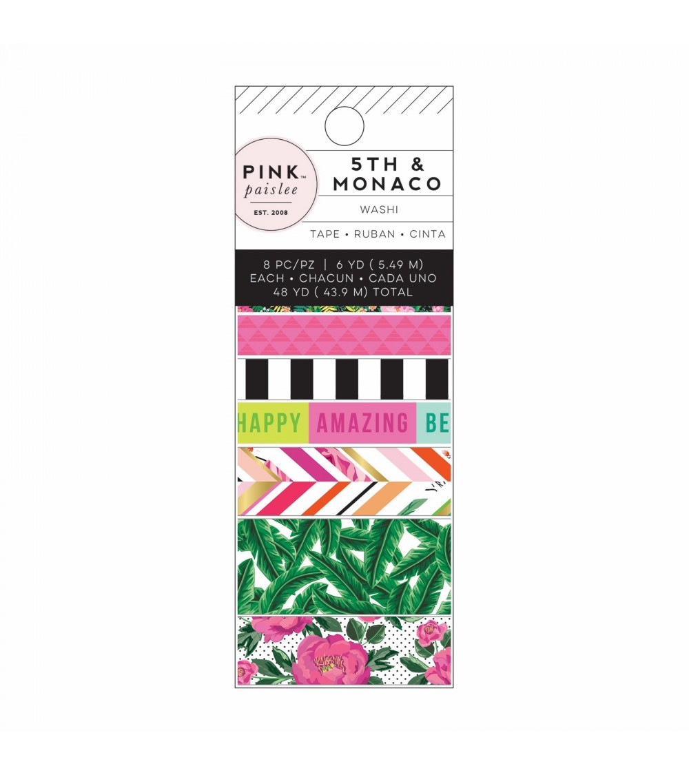 Pink Paislee - 5th and Monaco - Washi Tapes