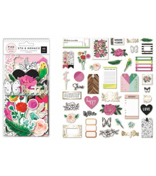 Pink Paislee - 5th and Monaco - Ephemera Die Cuts