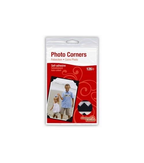 3L - Photo Corners / Fotoecken - black (108 Stk.)