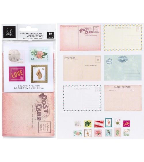 AC - Heidi Swapp Art Walk - Postcards & Stamps