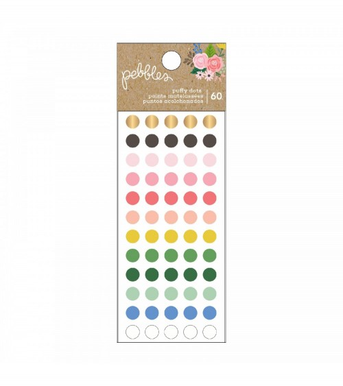 Pebbles - Lovely Moments - Puffy Dots Sticker