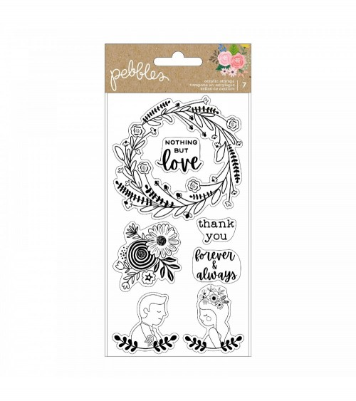 Pebbles - Lovely Moments - Clear Stamps