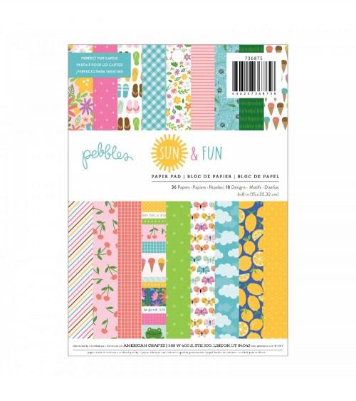 "Pebbles - Sun and Fun - 6x8"" Paper Pad"