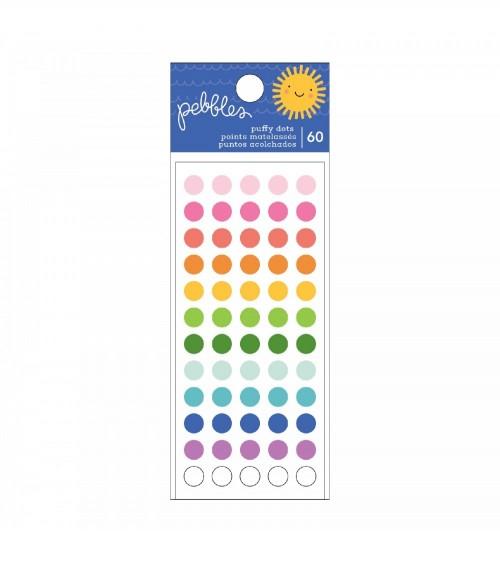 Pebbles - Sun and Fun - Puffy Dots Sticker