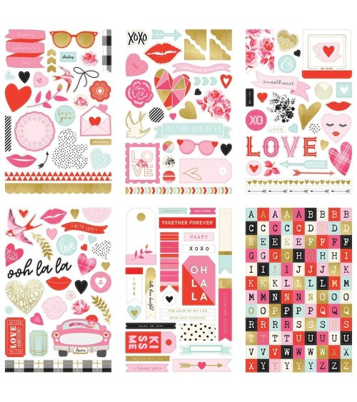 "MME - With Love - 6x9"" Sticker Pad"