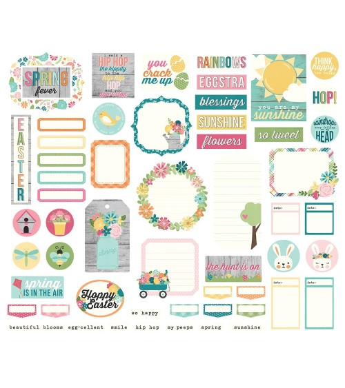 Simple Stories - Hip Hop Hooray - Journal DieCuts Bits&Pieces