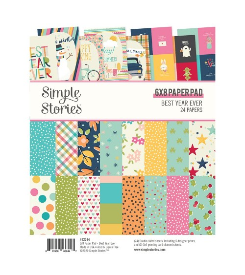 "Simple Stories - Best Year Ever - 6x8"" Paper Pad"