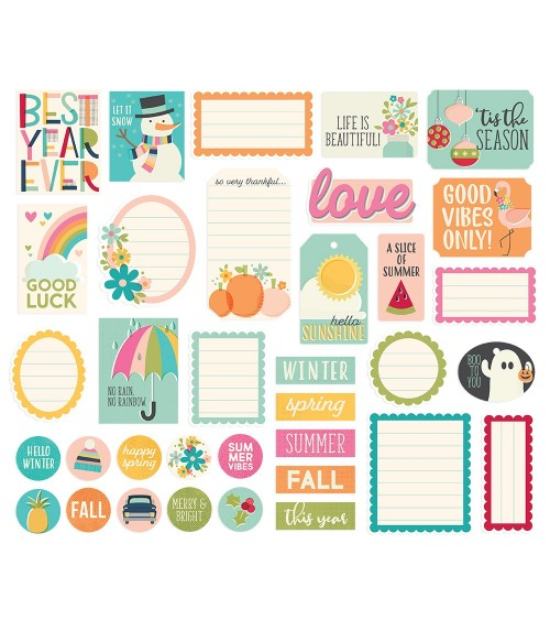 Simple Stories - Best Year Ever - Journal DieCuts Bits&Pieces