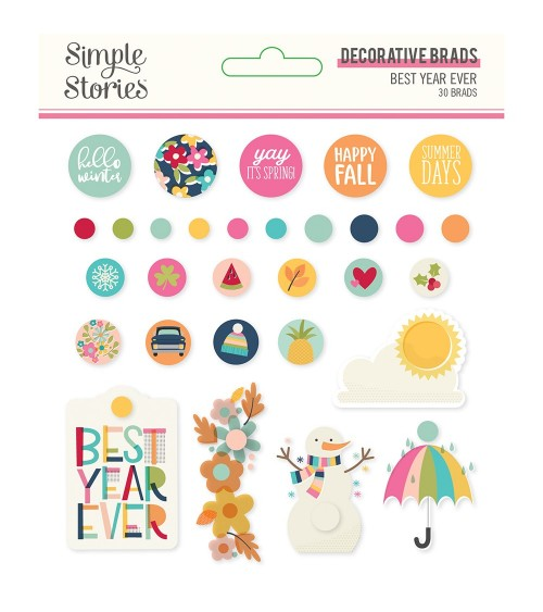 Simple Stories - Best Year Ever - Decorative Brads