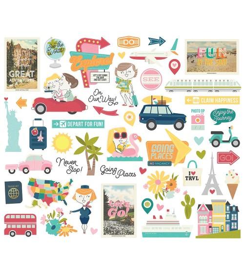Simple Stories - Going Places - DieCuts Bits&Pieces