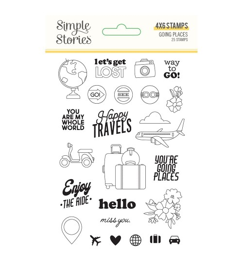 Simple Stories - Going Places - Clear Stamps