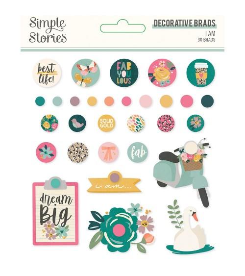 Simple Stories - I Am - Decorative Brads