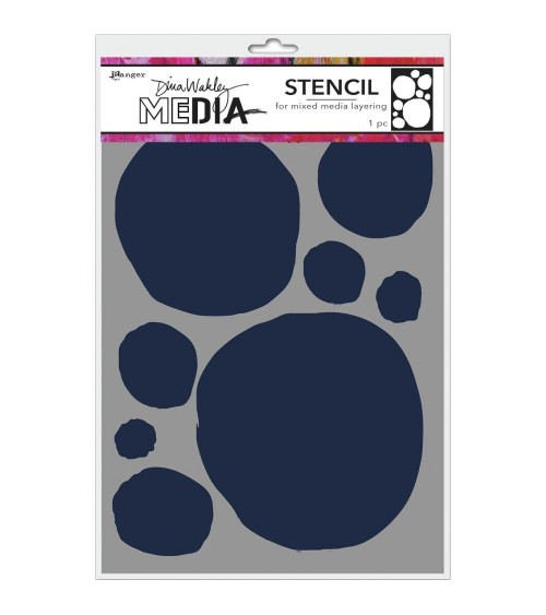 Ranger - Dina Wakley Stencils / Mask - Circles For Painting (6x9