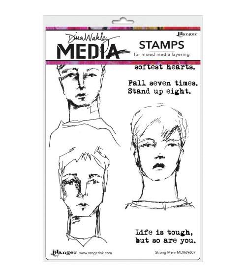 Ranger - Dina Wakley Cling Stamps - Strong Men