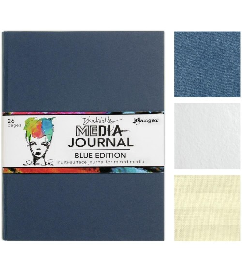 "Ranger - Dina Wakley - BLUE EDITION Media Journal 8x10"""