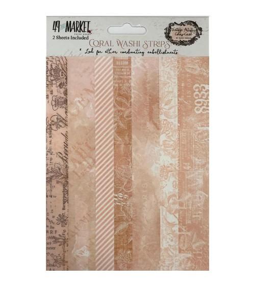 49 & Market - Vintage Artistry CORAL - Washi Strips