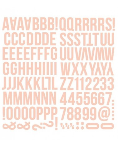 Simple Stories - Color Vibe - Foam Alpha Stickers - Blush