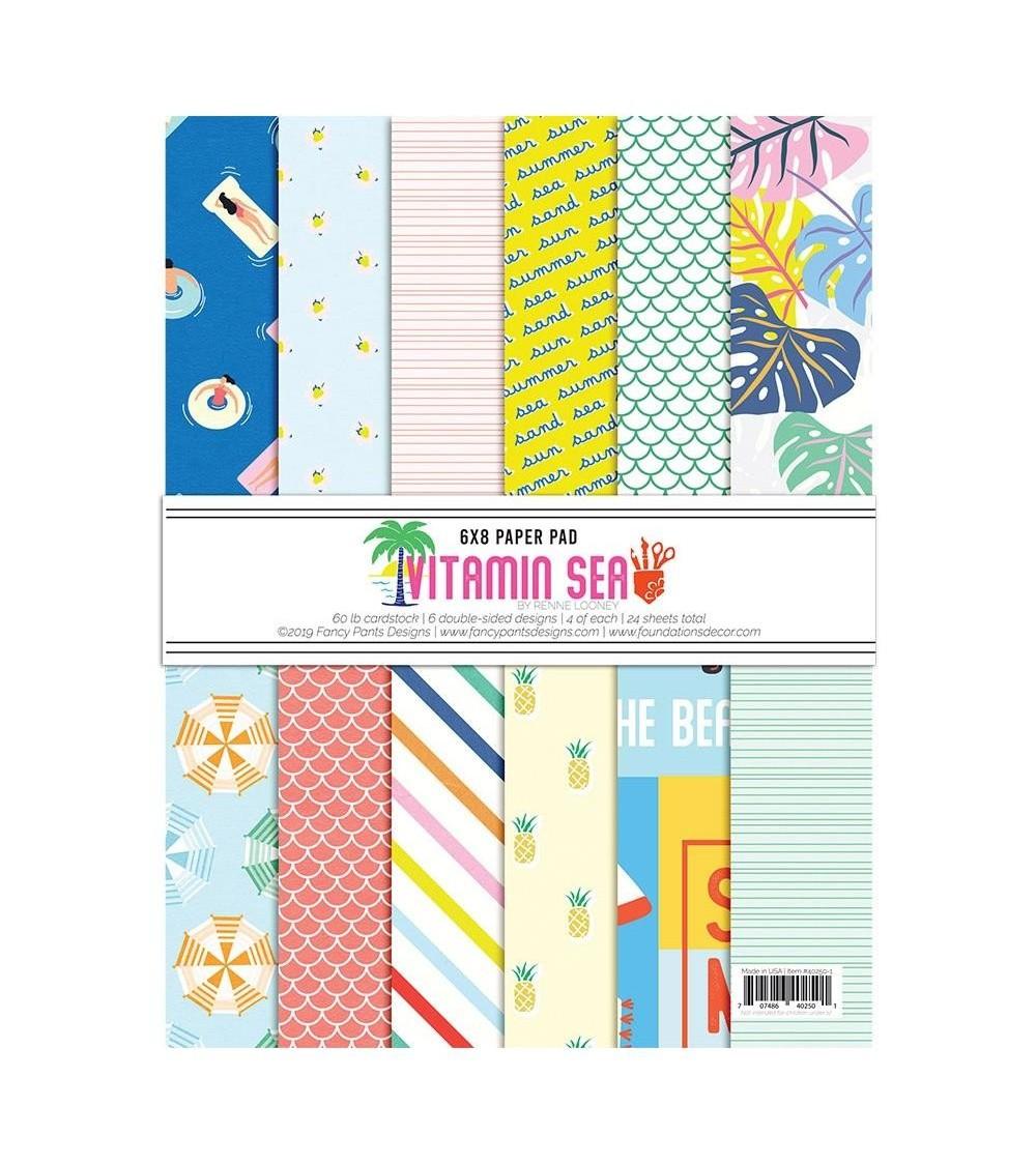 "Fancy Pants - Vitamin Sea - 6x8"" Paper Pad"
