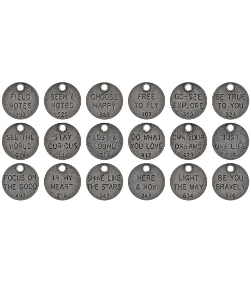 Tim Holtz - idea-ology - Metal Thought Tokens