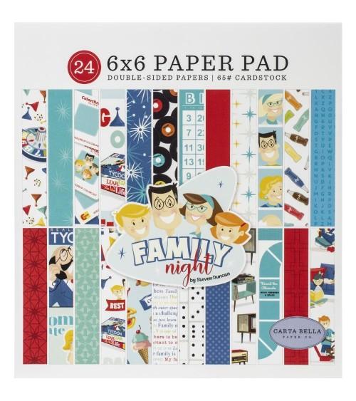 "Carta Bella - Family Night - 6x6"" Paper Pad"
