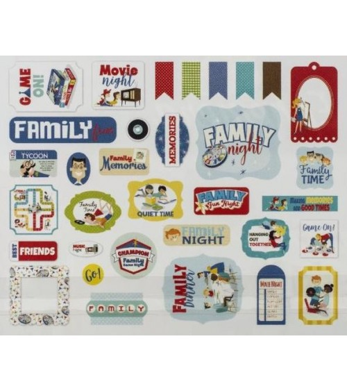 Carta Bella - Family Night - Ephemera Die Cuts Icons